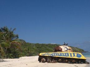 Tank on Flamenco Beach