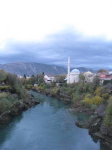 Mosque and Minaret in Mostar